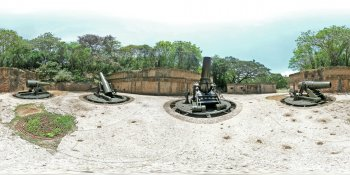 Battery Way Corregidor Island, Philippines panorama