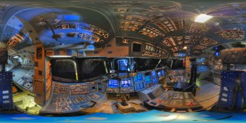 Space Shuttle Endeavour Cockpit panorama