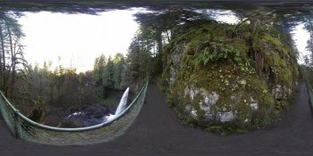 Siver Falls Park, Oregon, USA panorama