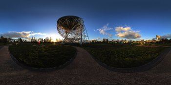 Jodrell Bank Observatory, Macclesfield, UK panorama