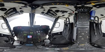 Helicopter cockpit panorama