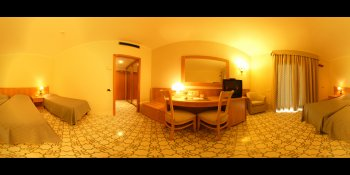 Hotel room in Sorrento, Italy panorama