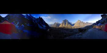Moonlight in the Karakoram, Pakistan panorama