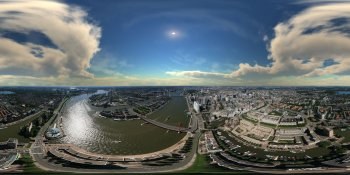 Aerial panorama of Rotterdam, The Netherlands panorama
