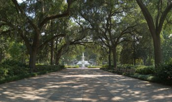 Forsyth Park - Savannah, Georgia panorama