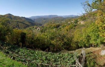Autumn in Cévennes, France panorama