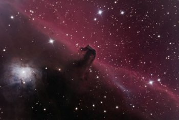 The Horsehead Nebula in One-Shot-Color panorama