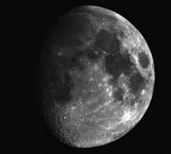 The moon panorama