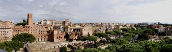 Rome, near the Colloseo panorama