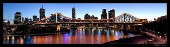 Story Bridge, Brisbane, Australia panorama